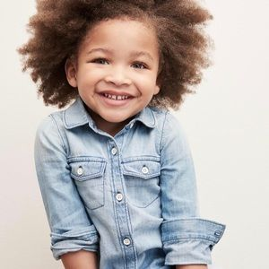 Gap Toddler Light Denim Chambray Shirt | 2T | EUC